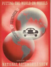 1938 NATIONAL AUTOMOBILE SHOW PROGRAM PRODUCED BY TIME MAGAZINE - EX+