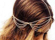 Gold chain head piece Headdress Headband Headpiece hair head chain accessory