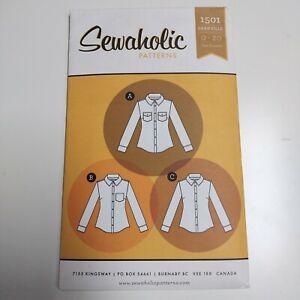 Sewaholic Granville Women's Shirt Pattern 1501 NEW Uncut Size 0 - 20