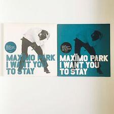 """Maximo Park quiero que te quedes 2 X versión Vinilo 7"""" Single en muy buena condición"""