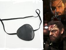 Men Metal Gear Eye Patch Solid Black Color One Size Handmade Costume Cosplay New