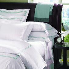 Sferra Grande Hotel King Duvet Cover, White/Cornflower Blue