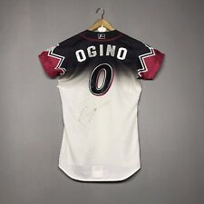 RARE CHIBA LOTTE MARINES NPB JAPAN BASEBALL GAME WORN JERSEY SIGNATURE OGINO #0