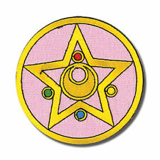 Sailor Moon R Pink Star Brooch Licensed Embroidered Iron On/Sew On Patch