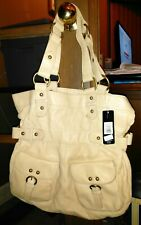 NWT PARADOX LEATHER $220 Tan Hobo Large Shoulder Bag Lined Buckle Straps