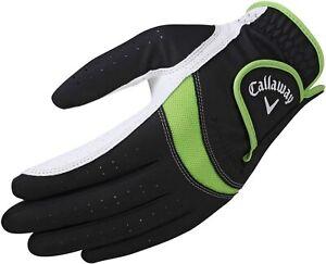 NEW Callaway Men's X-Tech Golf Glove REGULAR LEFT MEDIUM~Black,Green,White~