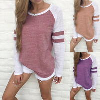 Plus Size Fashion Women Ladies Long Sleeve Solid Blouse Tops Clothes T Shirts LJ