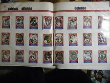 1972 Sunoco Football Stamp Complete Team Set LOT 24 N.E. PATRIOTS RC PLUNKETT +