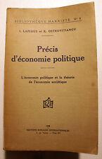 RUSSIE/PRECIS D ECONOMIE POLITIQUE/LAPIDUS-OSTROVITIANOV/ED SOCIALES/1929/MARX