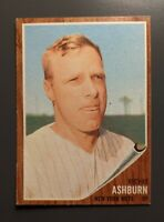 1962 Topps #213 Richie Ashburn HOF New York Mets GD/Crease