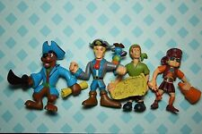 Scooby Doo Pirates 4 Toy Figure Lot Shaggy Fred Velma Pirate Characters