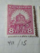 HONGRIE 1928, timbre CLASSIQUE 411, COURONNE, oblitéré, VF CANCEL STAMP