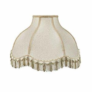 30303 Transitional Scallop Bell Shape Spider Construction Lamp Shade in Cream 1