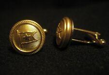 Titanic Button Cufflinks White Star Line Uniform Brass 1912