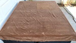 "Vintage Brown Velvet Upholstery Fabric 60"" Wide  2 Yards 18"""