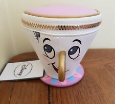 Primark Disney Beauty And The Beast Chip Coin Cup Purse Zip Wallet