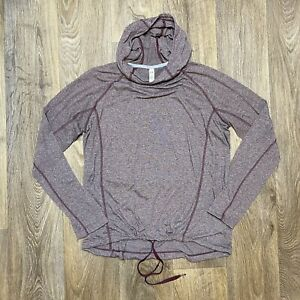 Under Armour Long Sleeve Hooded Shirt Size Large Loose Fit Heat Gear