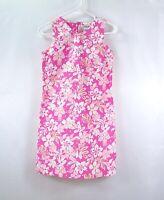 CHRISTIE BROOKS Girls Black Pink Floral Sleeveless Sheath Dress Sz 16 XL
