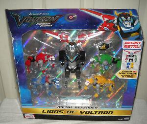 """#11285 NRFB Playmates Dreamworks Voltron - Lions of Voltron Set Forms 8"""" Voltron"""