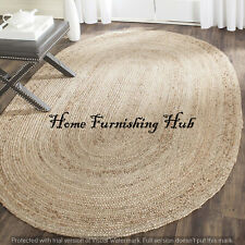 Braided Handmade Natural Jute Oval Mat Rag Rug Area Rug Carpet Tepich Rug Decor