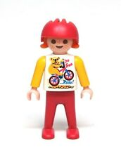Playmobil Figure Dollhouse School Girl Child w/ Bike Shirt Helmet 3712 4070 5024