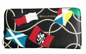 Tommy Hilfiger Nautical Rope Flags Navy Zip Around Wallet