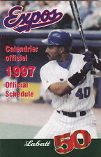 1997 MONTREAL EXPOS BASEBALL POCKET SCHEDULE - FRENCH AND ENGLISH