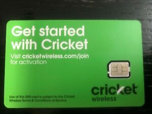CRICKET WIRELESS NANO 4FF SIM Card • GSM 4GLTE • NEW • NEWEST VERSION SIM CARD