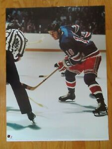 The Official 1973 NHL Game Action WALTER TKACZUK No. 18 NEW YORK RANGERS Poster