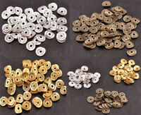 100PCS Tibetan Silver Gold Bronze Wavy Charm DIY Spacer Beads Jewelry Making