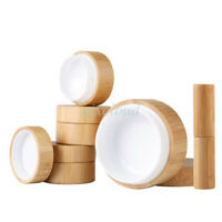 Wholesale Empty Natural Bamboo Cosmetic Containers Jars Lipstick Lip Balm tube