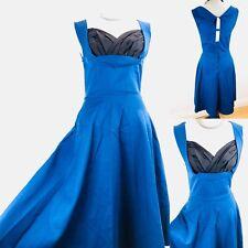 14897652d03 LINDY BOP Royal Blue Dress Size 10 Rockabilly Swing Dress Flare Vtg Look New  Tag