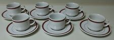 Suisse Langenthal 6oz. Espresso 6 Cups & 6 Saucers Red White & Gold