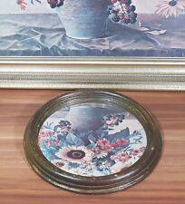 Wandspiegel mit sehr schönem Holzrahmen Größe D=22cm Characterspiegel