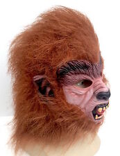 Teen Wolf Brown Werewolf Mask Halloween Horror Fancy Dress 80's Cosplay Costume