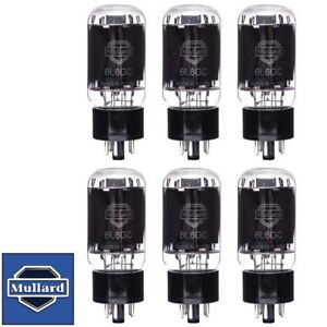 Brand New Mullard Reissue 6L6GC 6L6 Current Matched Sextet (6) Vacuum Tubes
