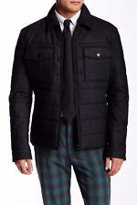 NWT $645 Hugo Boss Cormac Jacket Wool Blend Puffer Gray Size 46 R