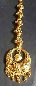 22K Gold Plated Small cute Indian Maang Tikka Weding Head Jewelry