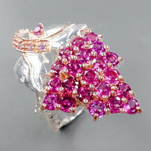 Jewelry Unique SET Rhodolite Ring Silver 925 Sterling  Size 6.5 /R161452