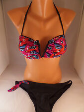 NWT Iron Fist 2pc Havana Breeze Bikini Size Large Bandeau Top/Low Rise Bottoms