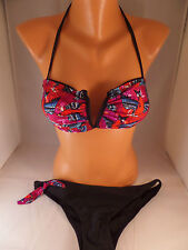 NWT Iron Fist 2pc Havana Breeze Bikini Size XS Bandeau Top/Low Rise Bottoms