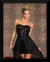mini abito corto paillettes balza assimetrica chiffon tg M Lcod. 9021