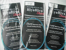 "HiyaHiya Knitting Needles Sharp Steel Circular Needle, 2.5mm x 100cm (40"")"
