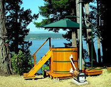 Cedar Wood Hot Tub -Wood Fired - seats 4 - wooden hottub