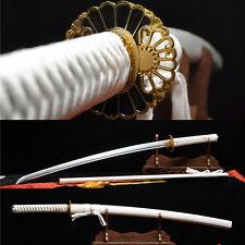1060 Carbon Steel Sharp Full Tang Can Cut Tree Japanese Samurai Katana Sword