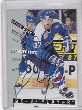 1994-95 UD BE A PLAYER HOCKEY ERIC DESJARDIN AUTHENTIC AUTOGRAPH CARD