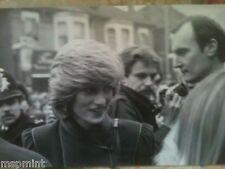 Princess Diana RARE BLACK WHITE PHOTO 1982 ON WALKABOUT LEWISHAM ENGLAND