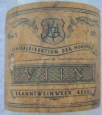 1920s Estonia Reval Branntweinwerk Vodka Bottle RARE