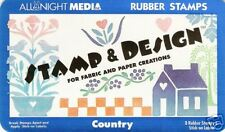 COUNTRY STAMP & DESIGN foam rubber stamp set, All Night Media