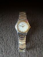 Ladies Ebel Classic Wave Bracelet Watch With pearl dial and diamond hour marker